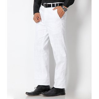 Febulous white linen formal trouser for mens