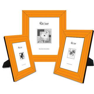Elegant Arts & Frames Set Of 3 Photo Frames P 326-Orange