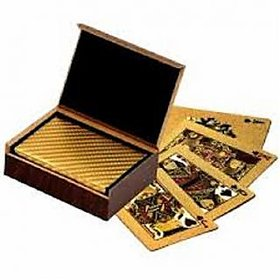 Pooja Creation Gold Playing Cards