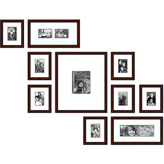Elegant Arts & Frames Group Of 10 P 319-23 Wall Collage Photo Frames-A