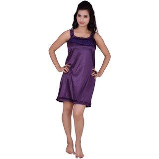 Kismat Fashion Purple Short Nighty Kn06