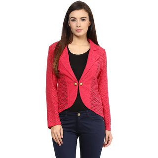 RARE Solid Full Sleeve Womens Jacket-EP1156BPINK