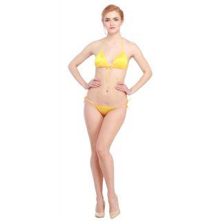 c0c9f670db Buy Glus Satin Front Knot String Halter Bikini Set