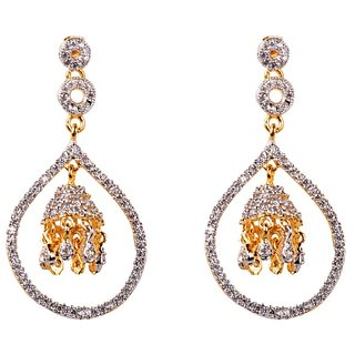 Flower Design Partywear AD Stone Traditional Earring (DPER16)