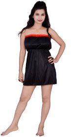 Kismat Fashion Short Satin Nighty Kn18