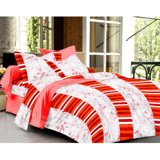 Bedspun 100 Cotton White 1 Double Bedsheet With 2 Pillow Cover-Mg1402-Bs
