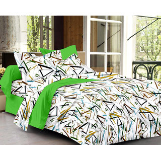 Bedspun 100 Cotton White 1 Double Bedsheet With 2 Pillow Cover-Mg1446-Bs