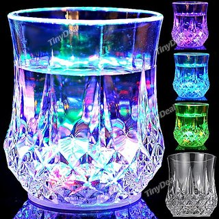 LED Flashing Inductive Rainbow Color Cup Glass Best for Gifting