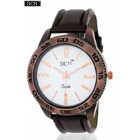 DCH WT 1202 Heavy Brown Leather Watch For Men With 1 year Warranty(WT 1202)