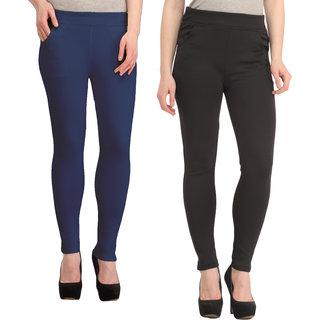 Skyline Women's Multi Color Mid Waist Skinny Fit Polyester Tregging