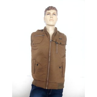 9a9d13634 Men Half Jacket Brown Colour