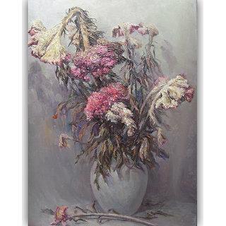 Vitalwalls Still Life Painting Canvas Art Print,Wooden Frame.Static-250-F-60cm