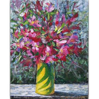 Vitalwalls Still Life Painting Canvas Art Print,Wooden Frame.Static-280-F-45cm