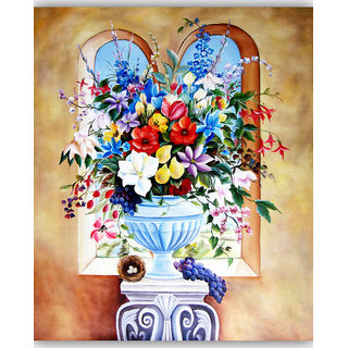 Vitalwalls Still Life Painting Canvas Art Print,Wooden Frame.Static-285-F-60cm