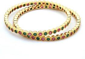 Beautiful Ruby and emerald bangle ( 2 bangle)