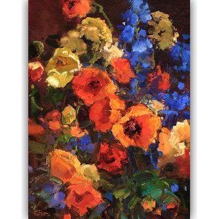 Vitalwalls Still Life Painting Canvas Art Print,Wooden Frame.Static-220-F-45 cm