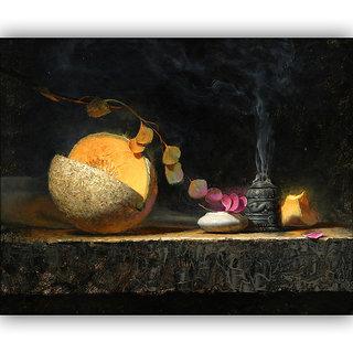 Vitalwalls Still Life Painting Canvas Art Print,Wooden Frame.Static-225-F-30cm