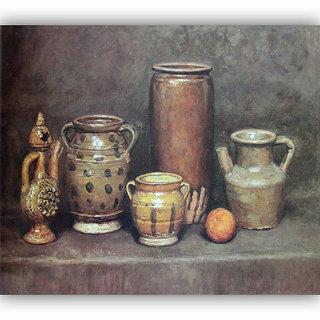 Vitalwalls Still Life Painting Canvas Art Print,Wooden Frame.Static-289-F-60cm