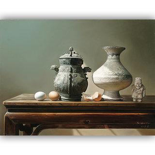 Vitalwalls Still Life Painting Canvas Art Print,Wooden Frame.Static-293-F-45cm