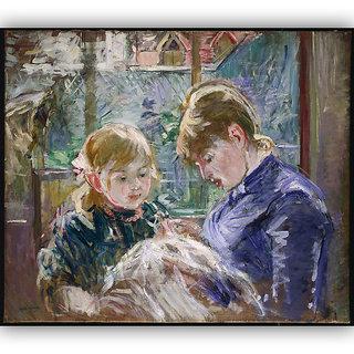 Vitalwalls Portrait Painting Canvas Art Print.Western-201-45cm