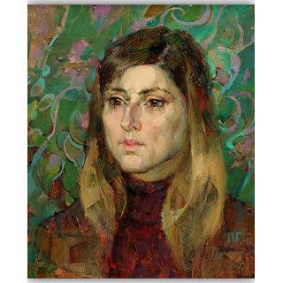 Vitalwalls Portrait Painting Canvas Art Print,on Wooden FrameWestern-236-F-30cm