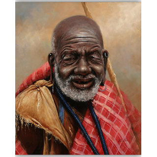 Vitalwalls Portrait Painting Canvas Art Print.Western-066-60cm