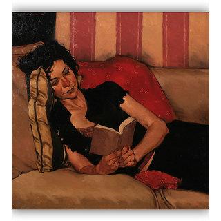 Vitalwalls Portrait Painting Canvas Art Print.Western-143-30cm