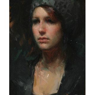 Vitalwalls Portrait Painting Canvas Art Print,Wooden Frame.Western-059-F-60cm