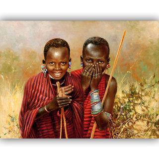 Vitalwalls Portrait Painting Canvas Art Print.Western-077-60cm