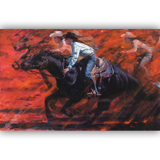 Vitalwalls Portrait Painting Canvas Art Print.Western-152-45cm