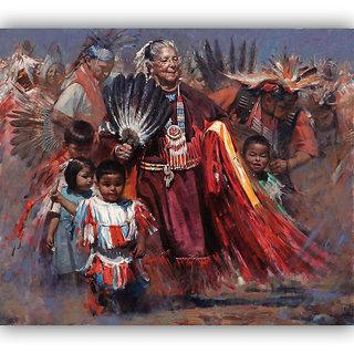 Vitalwalls Portrait Painting Canvas Art Print.Western-153-60cm
