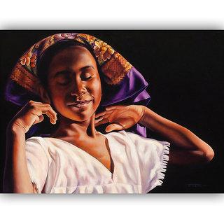 Vitalwalls Portrait Painting Canvas Art Print.Western-275-45cm