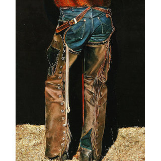 Vitalwalls Portrait Painting Canvas Art Print.Western-276-45cm