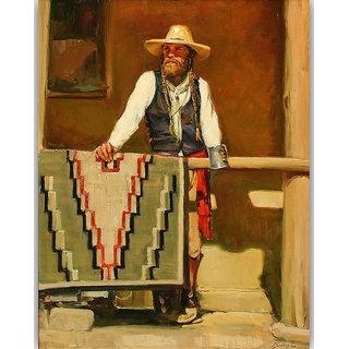 Vitalwalls Portrait Painting Canvas Art Print.Western-311-30cm