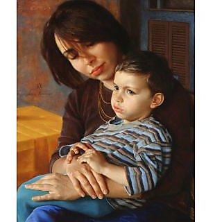 Vitalwalls Portrait Painting Canvas Art Print.Western-086-60cm