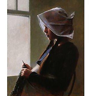 Vitalwalls Portrait of spring Canvas Art Print, Wooden Frame.Western-197-F-30cm