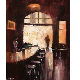 Vitalwalls Portrait Painting Canvas Art Print,on Wooden FrameWestern-223-F-60cm