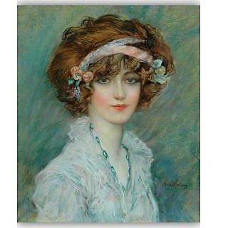 Vitalwalls Portrait Painting Canvas Art Print.Western-224-45cm