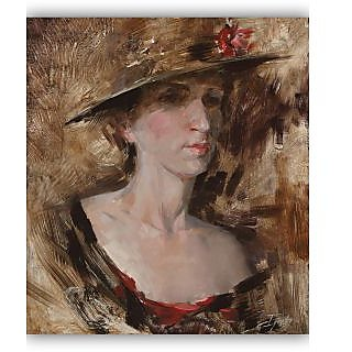 Vitalwalls Portrait Painting Canvas Art Print.Western-254-45cm