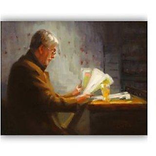 Vitalwalls Portrait Painting Canvas Art Print.Western-289-45cm