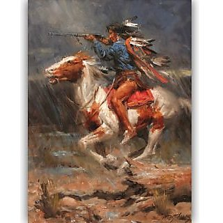 Vitalwalls Portrait Painting Canvas Art Print.Western-358-30cm