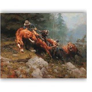 Vitalwalls Portrait Painting Canvas Art Print.Western-365-60cm
