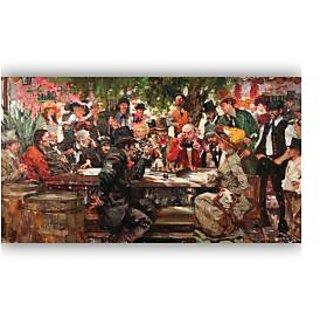 Vitalwalls Portrait Painting Canvas Art Print.Western-394-60cm