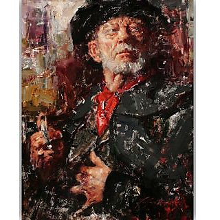 Vitalwalls Portrait Painting Canvas Art Print.Western-395-30cm