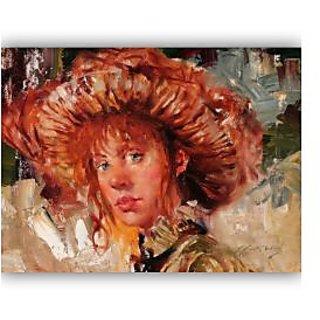 Vitalwalls Portrait Painting Canvas Art Print.Western-396-30cm