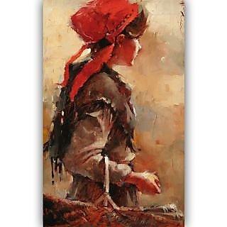 Vitalwalls Portrait Painting Canvas Art Print,on Wooden FrameWestern-439-F-45cm