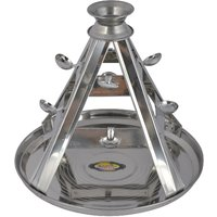 Krishnam Steels Steel Lamp Stand (25 Cm X 25 Cm X 24 Cm