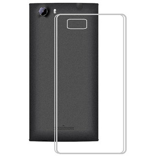 Snaptic 033mm Transparent Soft back Cover for Micromax Canvas Mega E353