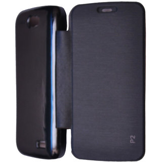 Flip Case Cover For Gionee Pioneer P2 (Black)