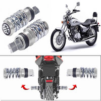Capeshoppers Spring Coil Style Bike Foot Pegs Set Of 2 For Bajaj Avenger 220-Chrome